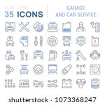 set of vector line icons  sign... | Shutterstock .eps vector #1073368247