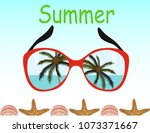 summer beach banner | Shutterstock .eps vector #1073371667