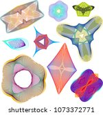 set of colorful abstract...   Shutterstock .eps vector #1073372771
