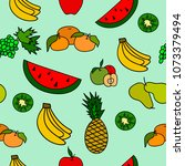 seamless pattern with fruit. | Shutterstock .eps vector #1073379494