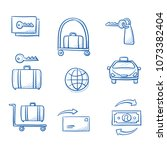 hotel reception service icon... | Shutterstock .eps vector #1073382404
