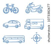 icon set travel holidays ... | Shutterstock .eps vector #1073382677