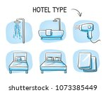 hotel room type icon set  for... | Shutterstock .eps vector #1073385449