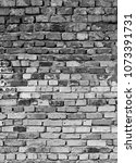 old monochrome brick wall... | Shutterstock . vector #1073391731