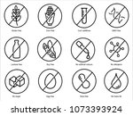 set ingredient warning label... | Shutterstock .eps vector #1073393924