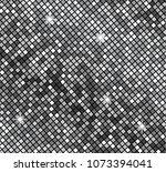 metallicsilver mosaics. vector... | Shutterstock .eps vector #1073394041