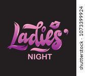 "hand lettering ""ladies' night""... 