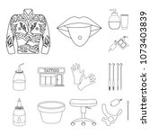 tattoo  drawing on the body... | Shutterstock .eps vector #1073403839