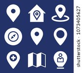 location filled vector icon set ... | Shutterstock .eps vector #1073405627