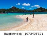 coron palawan philippines april ...   Shutterstock . vector #1073405921