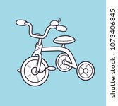 kids tricycle icon | Shutterstock .eps vector #1073406845