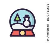 snowball icon concept. icon... | Shutterstock .eps vector #1073411591