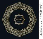 golden frame template with... | Shutterstock .eps vector #1073423291