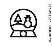 snowball icon concept.... | Shutterstock .eps vector #1073424239