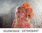 young beautiful blonde girl elf.... | Shutterstock . vector #1073426447