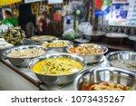 multi color curry recipe  thai...   Shutterstock . vector #1073435267