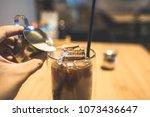 my morning espresso   Shutterstock . vector #1073436647