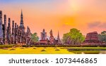 ruins of the temple of wat... | Shutterstock . vector #1073446865