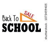 back to school | Shutterstock .eps vector #1073459405