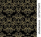 damask gold 3d seamless pattern.... | Shutterstock .eps vector #1073475695