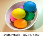 easter eggs are decorated eggs... | Shutterstock . vector #1073476559