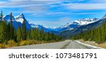 """the road 93 beautiful """"icefield ...   Shutterstock . vector #1073481791"""