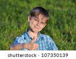 boy shows ok | Shutterstock . vector #107350139