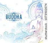 Illustration Of Lord Buddha In...
