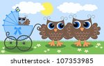owl family | Shutterstock .eps vector #107353985