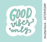 unique hand drawn lettering ...   Shutterstock .eps vector #1073545289