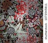 seamless print. cute fabric... | Shutterstock .eps vector #1073545811