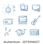 entertainment icon set  with ... | Shutterstock .eps vector #1073546027