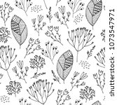 vector seamless floral pattern. ... | Shutterstock .eps vector #1073547971