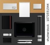 corporate identity mock up...   Shutterstock .eps vector #1073551544