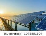 photovoltaic solar panels | Shutterstock . vector #1073551904