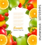 frame made of fresh  juicy... | Shutterstock .eps vector #107355491