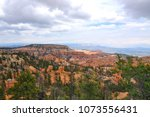 panoramic view the bryce canyon ... | Shutterstock . vector #1073556431