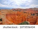 panoramic view the bryce canyon ... | Shutterstock . vector #1073556434