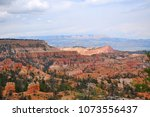 panoramic view the bryce canyon ... | Shutterstock . vector #1073556437