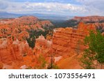 panoramic view the bryce canyon ... | Shutterstock . vector #1073556491