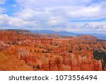panoramic view the bryce canyon ... | Shutterstock . vector #1073556494