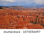panoramic view the bryce canyon ... | Shutterstock . vector #1073556497