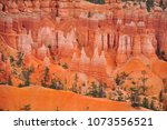 panoramic view the bryce canyon ... | Shutterstock . vector #1073556521