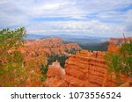 panoramic view the bryce canyon ... | Shutterstock . vector #1073556524