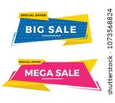 flat sale banner  promotion... | Shutterstock .eps vector #1073568824