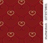 tapestry vintage 3d love hearts ... | Shutterstock .eps vector #1073573801
