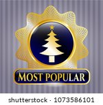 gold badge or emblem with... | Shutterstock .eps vector #1073586101