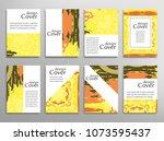 vector abstract background set. ... | Shutterstock .eps vector #1073595437
