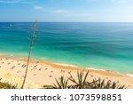 beautiful sandy beach on...   Shutterstock . vector #1073598851