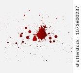 red ink drops. vector | Shutterstock .eps vector #1073600237